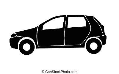 car, ilustração, vetorial