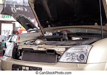 Car in Auto Repair Shop
