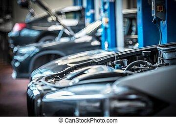 Car in Auto Service