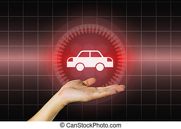 Car in hand