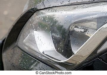 Car in Rain Macro