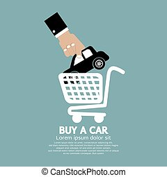 Car In Shopping Cart Buy a Car.