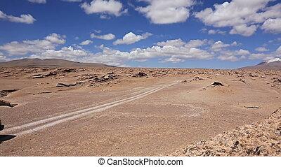 Car in the desert