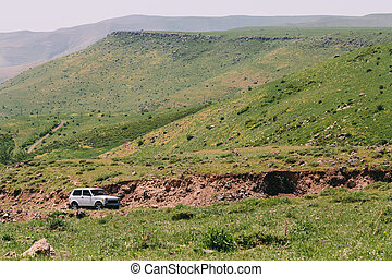 Car in the mountains of Armenia