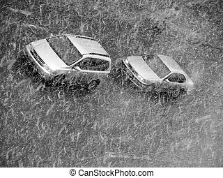 car in to snow