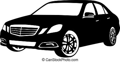 car in vector on white background