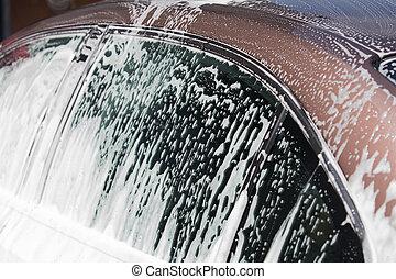 Car in washing service
