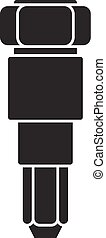 Car injector icon, simple style - Car injector icon. Simple ...