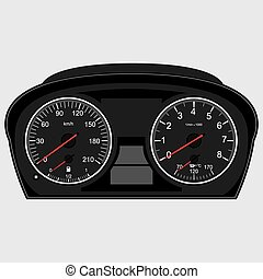 Car instrument panel - Car Instrument Panel,vector image of...