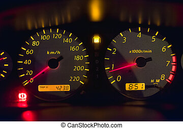 Car instrument panel that mean the car speedometer, Car...