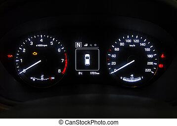 car instruments panel