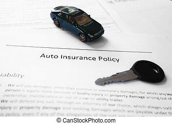 Car insurance and key