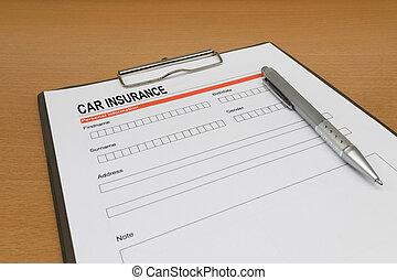Car Insurance application form