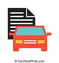 car insurance business icon