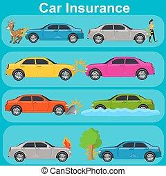 car insurance concept, vector