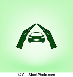 car insurance icon, on white background