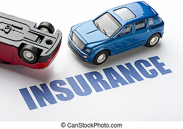 Image of concept Car insurance before the accident.