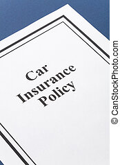 Car Insurance Policy - Document of Car Insurance Policy for...