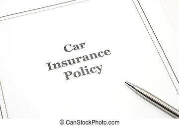 Car Insurance Policy with a Pen ready for Signature