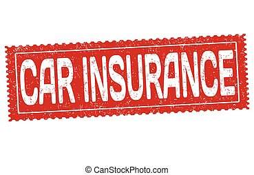 Car insurance sign or stamp