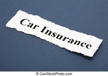 Car Insurance - Headline of car Insurance with blue...
