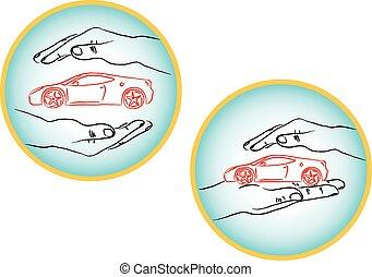 Car Insurance vector Logos