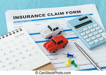 Car insurance with calculator and calendar - Car insurance...