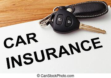 Car insurance with car key