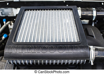 Car intercooler with shallow depth of field - Horizontal new...