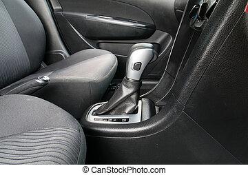 Automatic transmission gear shift. - Car interior. Automatic...