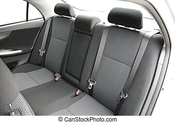 Car Interior - Car interior with back seats