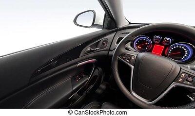 A pano shot of the car interior