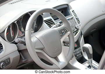 Car Interior - Interior of a modern swedish car