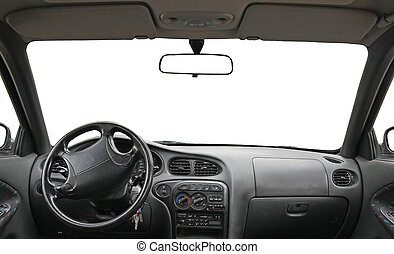car interior isolated for creative landscape montage