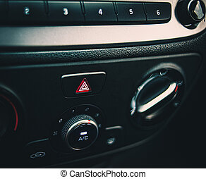 Part of the car dashboard