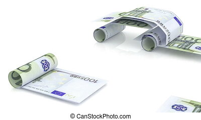 car is created from euro note, the concept of financing the...