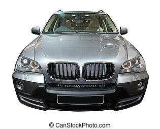 isolated BMW in Auto Expo exhibition in Delhi, India