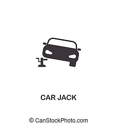 Car Jack creative icon. Simple element illustration. Car Jack concept symbol design from car parts collection. Can be used for web, mobile, web design, apps, software, print.