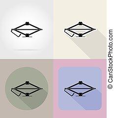 car jack flat icons vector illustration - car jack flaticons...