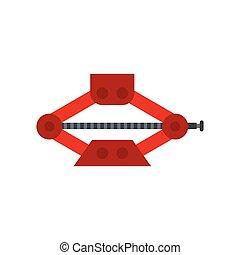 Car jack icon, flat style - Car jack icon in flat style...