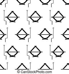 Car Jack Icon Seamless Pattern, Mechanical Jack Icon Vector ...