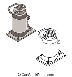 car jack spare parts set - mechanic design , vector...