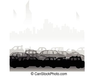 car jam in the city 2
