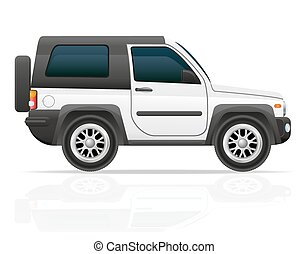 car jeep off road suv vector illustration