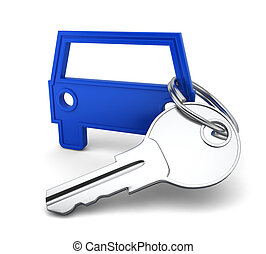 Car key. 3d illustration on white background