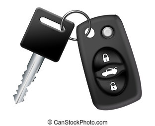 car key and remote - black and gray car key and remote...