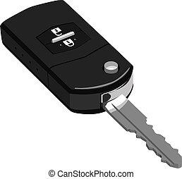 Car Key - Vector illustration set of Car Key.