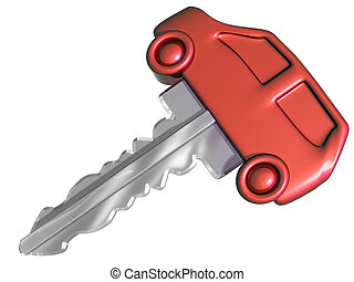 Car key - Isolated illustration of a car shaped car key