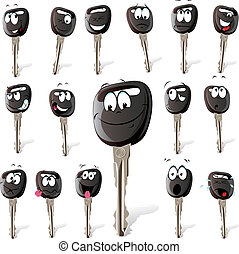 car key with many expressions