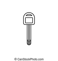 Car key icon, outline style